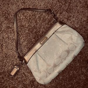 COACH WRISTLET // GOLD + NUDE // NEW
